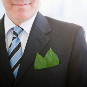 leafs in suit pocket